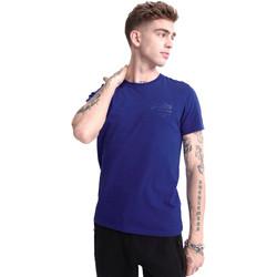 tekstylia Męskie T-shirty z krótkim rękawem Superdry M1010067A Niebieski