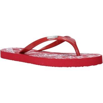 Buty Damskie Japonki Calvin Klein Jeans E8853 Czerwony