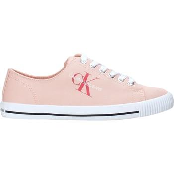 Buty Damskie Trampki niskie Calvin Klein Jeans B4R0896 Różowy