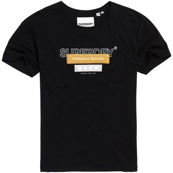 tekstylia Damskie T-shirty z krótkim rękawem Superdry G10305YU Czarny