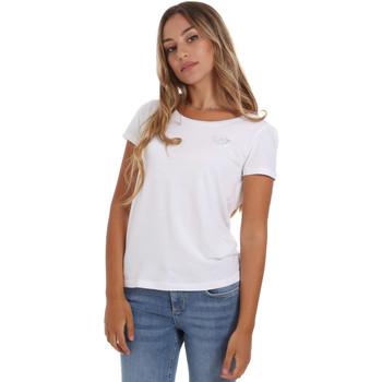 tekstylia Damskie T-shirty z krótkim rękawem Ea7 Emporio Armani 8NTT64 TJ28Z Biały