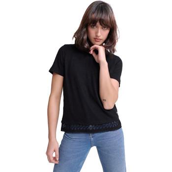 tekstylia Damskie T-shirty z krótkim rękawem Superdry G60408RU Czarny