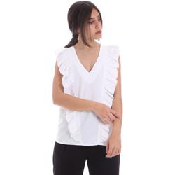 tekstylia Damskie Topy / Bluzki Gaudi 011BD45031 Biały