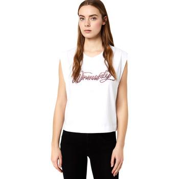 tekstylia Damskie T-shirty z krótkim rękawem Liu Jo FA0113 J5940 Biały