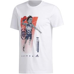 tekstylia Męskie T-shirty z krótkim rękawem adidas Originals FM4760 Biały