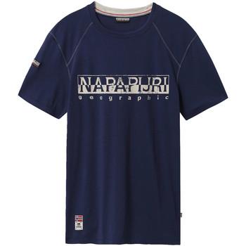 tekstylia Męskie T-shirty z krótkim rękawem Napapijri NP0A4E3B Niebieski