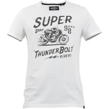 tekstylia Męskie T-shirty z krótkim rękawem Superdry M1010259A Biały