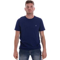 tekstylia Męskie T-shirty z krótkim rękawem Navigare NV31126 Niebieski