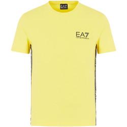 tekstylia Męskie T-shirty z krótkim rękawem Ea7 Emporio Armani 3HPT07 PJ03Z Żółty