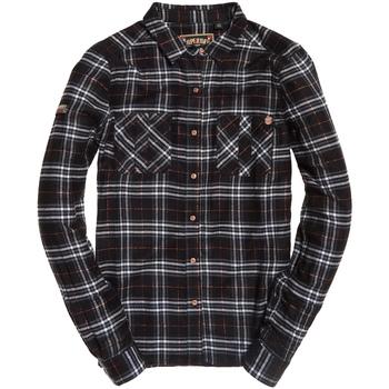 tekstylia Damskie Koszule Superdry G40001RR Czarny