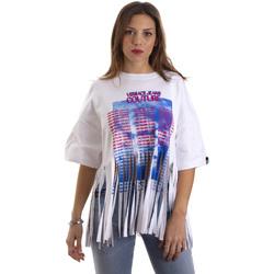 tekstylia Damskie T-shirty z krótkim rękawem Versace B2HVB7V730384003 Biały