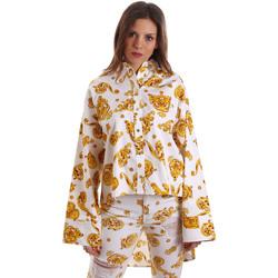 tekstylia Damskie Koszule Versace B0HVB624S0771003 Biały