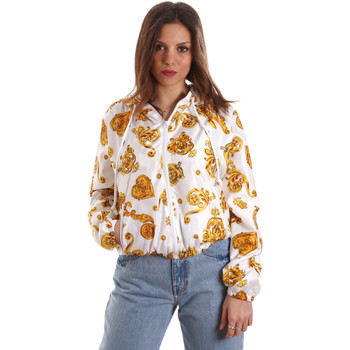 tekstylia Damskie Bluzy Versace C9HVB92525115003 Biały