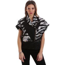 tekstylia Damskie Kurtki krótkie Versace C0HVB92DHRC5X899 Czarny