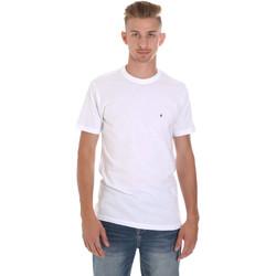 tekstylia Męskie T-shirty z krótkim rękawem Les Copains 9U9011 Biały