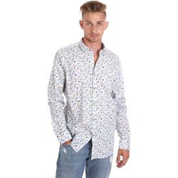 tekstylia Męskie Koszule z długim rękawem Sseinse CE491SS Biały
