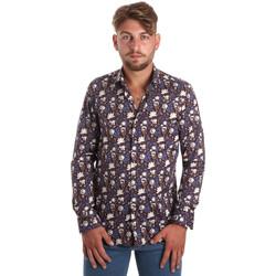 tekstylia Męskie Koszule z długim rękawem Betwoin SELZ 6635535 Niebieski