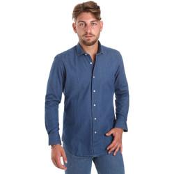 tekstylia Męskie Koszule z długim rękawem Betwoin DENIM78 6635535 Niebieski