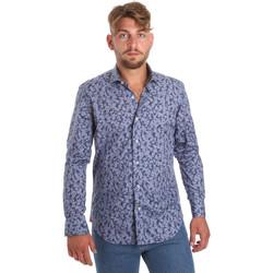 tekstylia Męskie Koszule z długim rękawem Betwoin D066 6635535 Niebieski