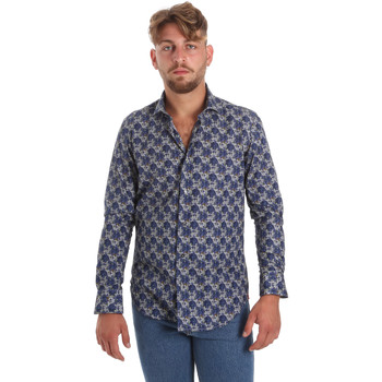 tekstylia Męskie Koszule z długim rękawem Betwoin DB111 Niebieski