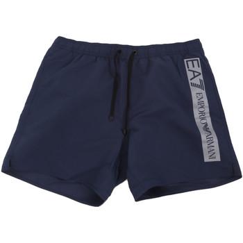 tekstylia Męskie Kostiumy / Szorty kąpielowe Ea7 Emporio Armani 902000 0P732 Niebieski