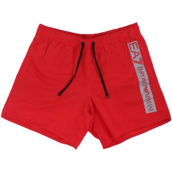 tekstylia Męskie Kostiumy / Szorty kąpielowe Ea7 Emporio Armani 902000 0P732 Czerwony