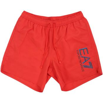 tekstylia Męskie Kostiumy / Szorty kąpielowe Ea7 Emporio Armani 902000 0P738 Czerwony