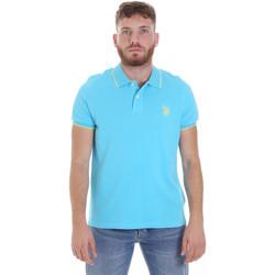 tekstylia Męskie Koszulki polo z krótkim rękawem U.S Polo Assn. 58561 41029 Niebieski