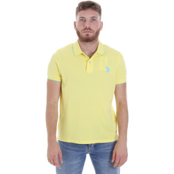 tekstylia Męskie Koszulki polo z krótkim rękawem U.S Polo Assn. 58561 41029 Żółty