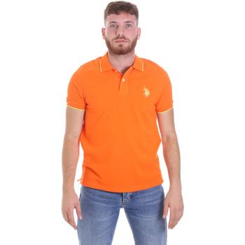 tekstylia Męskie Koszulki polo z krótkim rękawem U.S Polo Assn. 58561 41029 Pomarańczowy