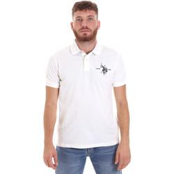 tekstylia Męskie Koszulki polo z krótkim rękawem U.S Polo Assn. 55959 41029 Biały