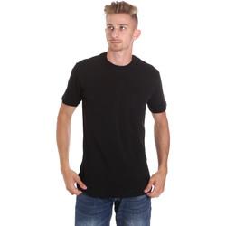 tekstylia Męskie T-shirty z krótkim rękawem Les Copains 9U9010 Czarny