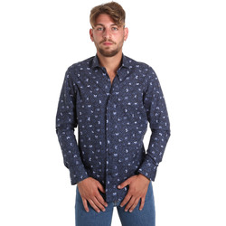 tekstylia Męskie Koszule z długim rękawem Betwoin D092 6635535 Niebieski