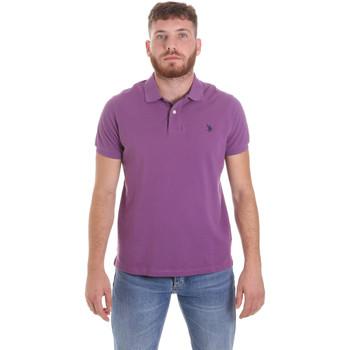 tekstylia Męskie Koszulki polo z krótkim rękawem U.S Polo Assn. 55957 41029 Fioletowy