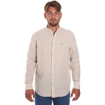 tekstylia Męskie Koszule z długim rękawem Les Copains 9U2722 Beżowy