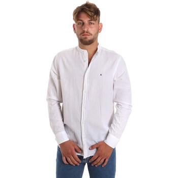 tekstylia Męskie Koszule z długim rękawem Les Copains 9U2722 Biały