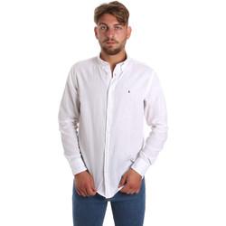 tekstylia Męskie Koszule z długim rękawem Les Copains 9U2371 Biały