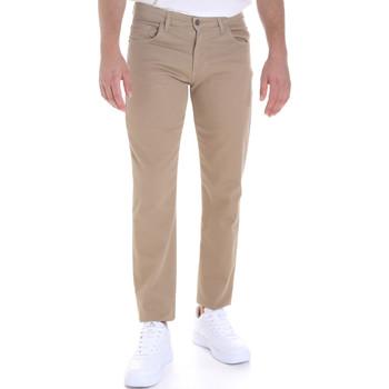 tekstylia Męskie Spodnie z pięcioma kieszeniami Les Copains 9U3022 Beżowy