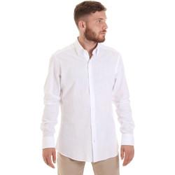 tekstylia Męskie Koszule z długim rękawem Les Copains 20P.689 P700SL Biały