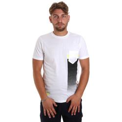 tekstylia Męskie T-shirty z krótkim rękawem Antony Morato MMKS01794 FA100189 Biały