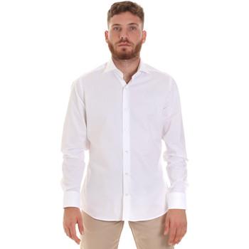 tekstylia Męskie Koszule z długim rękawem Les Copains 000.076 P3196 Biały