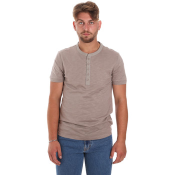 tekstylia Męskie T-shirty z krótkim rękawem Antony Morato MMKS01725 FA100139 Brązowy