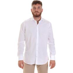 tekstylia Męskie Koszule z długim rękawem Les Copains 000.006 P3196SL Biały