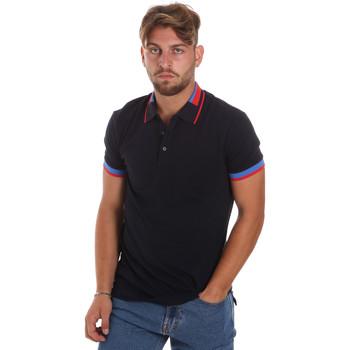 tekstylia Męskie Koszulki polo z krótkim rękawem Antony Morato MMKS01805 FA100213 Niebieski