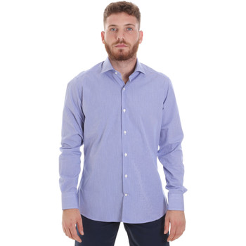 tekstylia Męskie Koszule z długim rękawem Les Copains 20P.621 P3196SL Niebieski