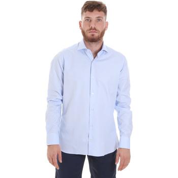 tekstylia Męskie Koszule z długim rękawem Les Copains 20P.887 P3196SL Niebieski
