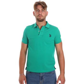 tekstylia Męskie Koszulki polo z krótkim rękawem U.S Polo Assn. 55985 41029 Zielony