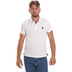 tekstylia Męskie Koszulki polo z krótkim rękawem U.S Polo Assn. 55985 41029 Biały