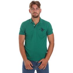 tekstylia Męskie Koszulki polo z krótkim rękawem U.S Polo Assn. 55959 41029 Zielony
