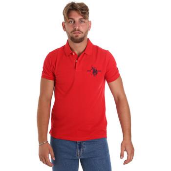 tekstylia Męskie Koszulki polo z krótkim rękawem U.S Polo Assn. 55959 41029 Czerwony